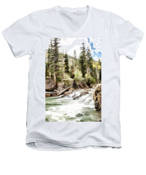 River Boulders Men's V-Neck T-Shirt