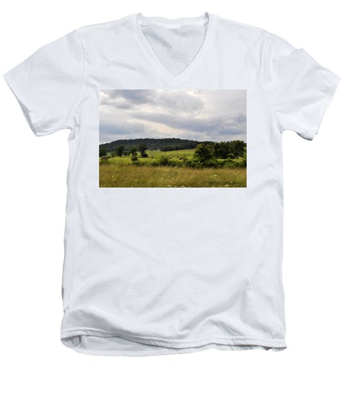 Men's V-Neck T-Shirt featuring the photograph Road Trip 2012 by Verana Stark