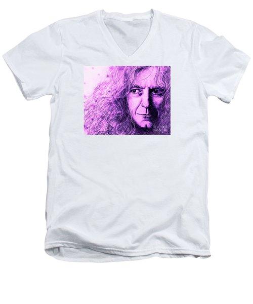 Robert Plant Purple Men's V-Neck T-Shirt