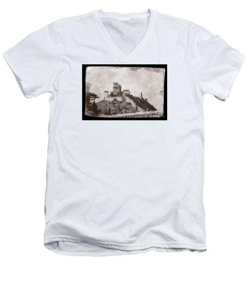 Rocca Maggiore Castle Men's V-Neck T-Shirt