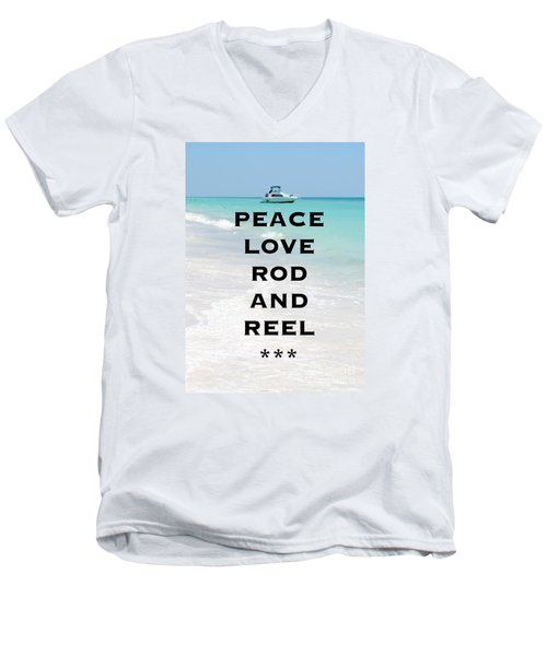 Rod And Reel Restaurant Anna Maria Island  Men's V-Neck T-Shirt by Margie Amberge