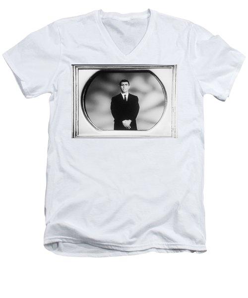 Rod Serling On T V Men's V-Neck T-Shirt