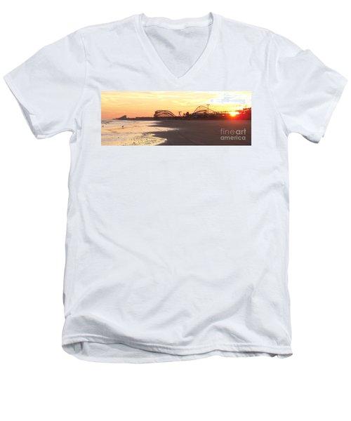 Roller Coaster Sunset Men's V-Neck T-Shirt
