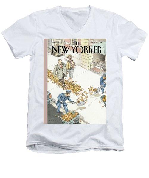 Rolling Out The Gold Carpet Men's V-Neck T-Shirt