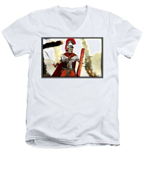 Roman Centurion Men's V-Neck T-Shirt by John Wills