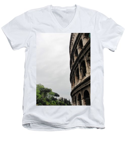 Men's V-Neck T-Shirt featuring the photograph Roman Coliseum by Tiffany Erdman