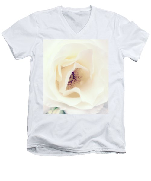 Romance In A Rose Men's V-Neck T-Shirt