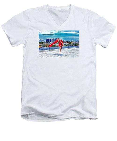 Roof Top Men's V-Neck T-Shirt