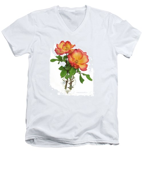 Rose 'playboy' Men's V-Neck T-Shirt