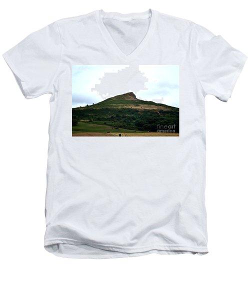 Roseberry Topping Hill Men's V-Neck T-Shirt