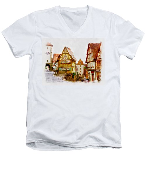 Rothenburg Men's V-Neck T-Shirt