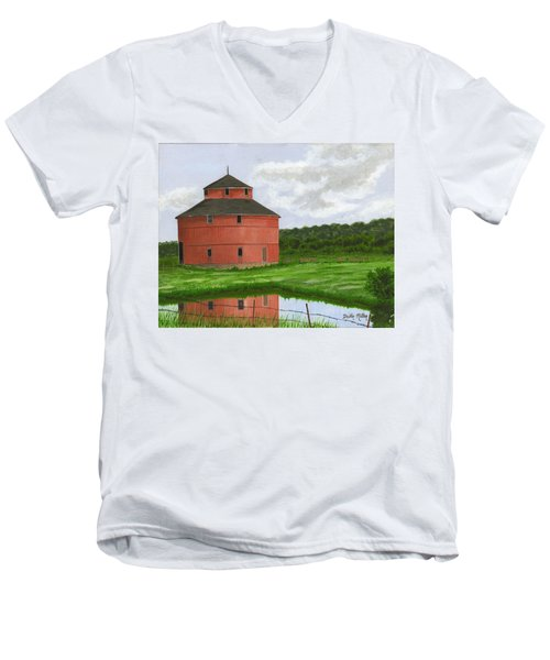 Round Barn Men's V-Neck T-Shirt