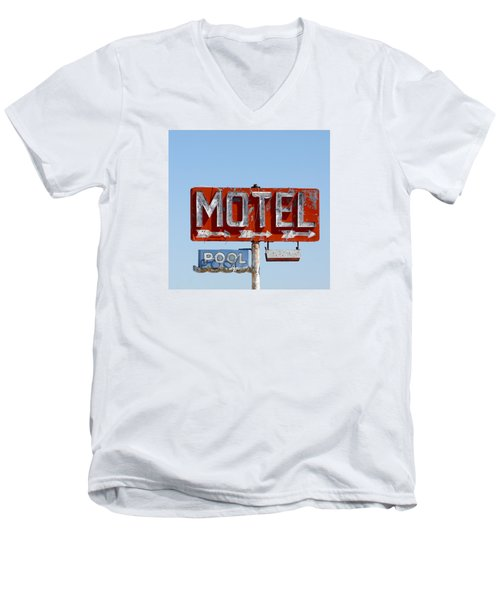Route 66 Motel Sign Men's V-Neck T-Shirt