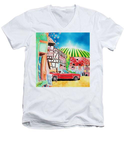 Route Des Vins Men's V-Neck T-Shirt