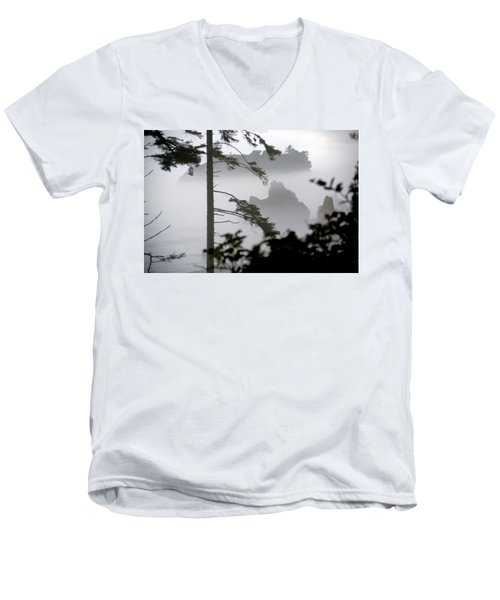 Ruby Beach Washington State Men's V-Neck T-Shirt