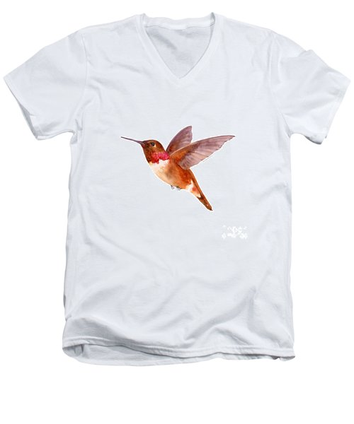 Rufous Hummingbird Men's V-Neck T-Shirt
