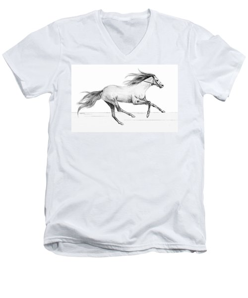 Runaway Men's V-Neck T-Shirt by Sophia Schmierer