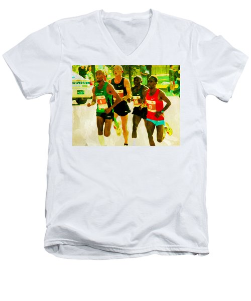 Runners Men's V-Neck T-Shirt