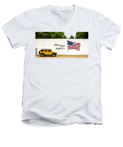 Rural America Wall Mural Men's V-Neck T-Shirt