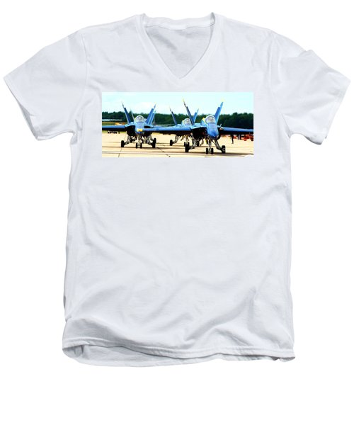 Rush Hour For Angels Men's V-Neck T-Shirt by Kevin Fortier