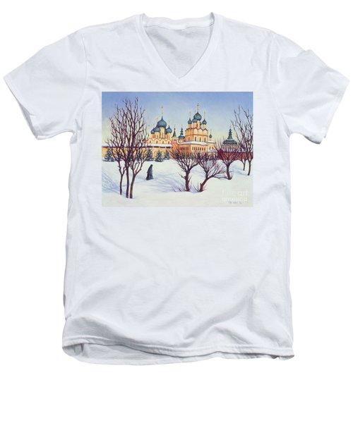 Russian Winter Men's V-Neck T-Shirt by Tilly Willis