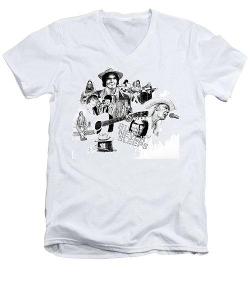Rust Never Sleeps Men's V-Neck T-Shirt by Ron Enderland