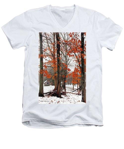 Rustic Winter Men's V-Neck T-Shirt