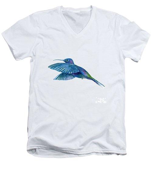 Sabrewing Hummingbird Men's V-Neck T-Shirt