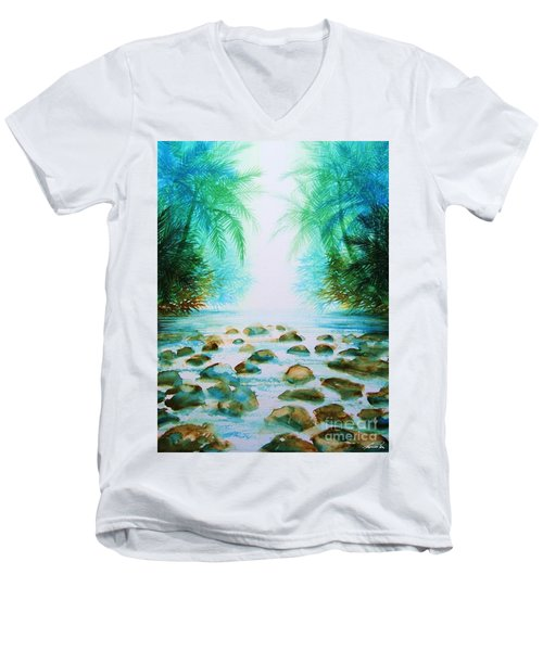 Sacred Pools Men's V-Neck T-Shirt