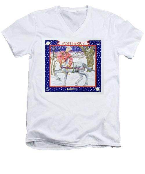 Sagittarius Wc On Paper Men's V-Neck T-Shirt by Catherine Bradbury