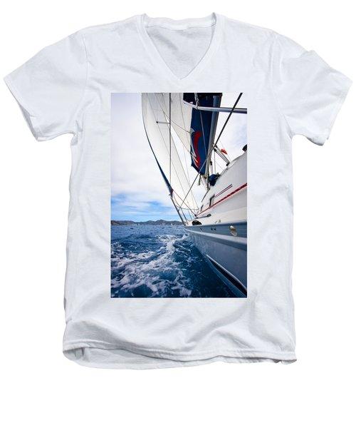 Sailing Bvi Men's V-Neck T-Shirt