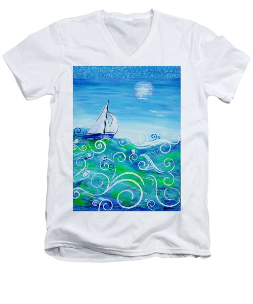Sailing By Jan Marvin Men's V-Neck T-Shirt