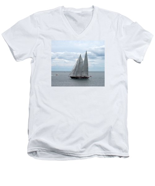 Sailing Day Men's V-Neck T-Shirt by Catherine Gagne