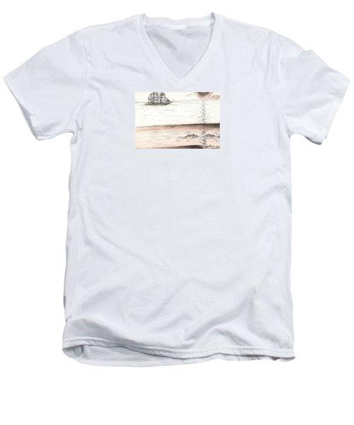 Sailing Into The Past Men's V-Neck T-Shirt