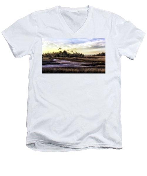 Saint Marks Wetland Sunset Men's V-Neck T-Shirt