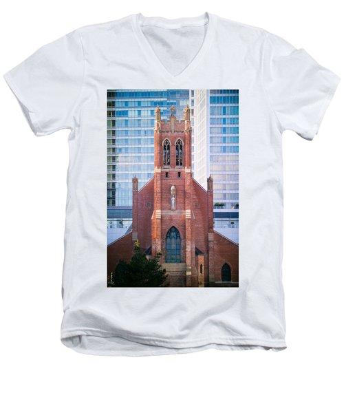 Saint Patrick's Church San Francisco Men's V-Neck T-Shirt