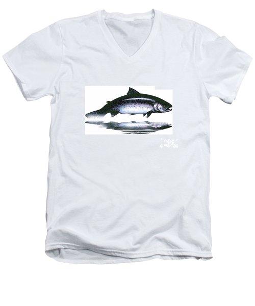 Salar - The Leaper Men's V-Neck T-Shirt