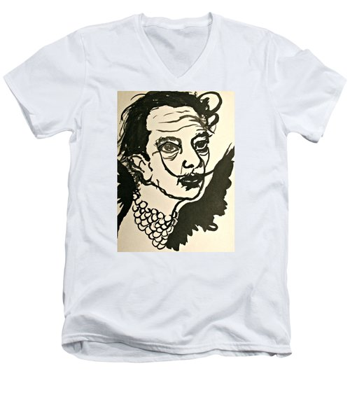 Salvador Dali Men's V-Neck T-Shirt