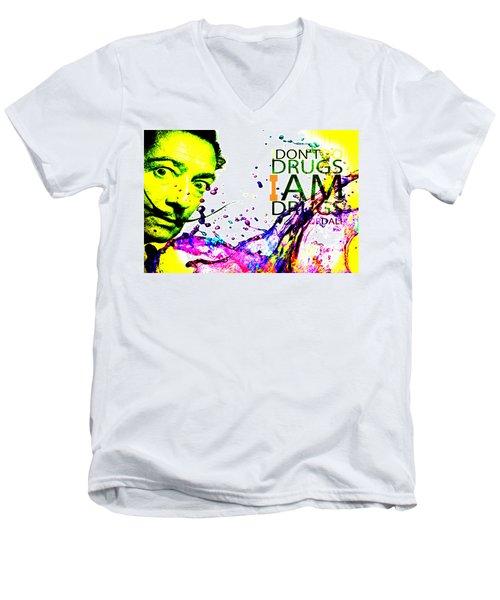 Salvador Dali Pop Art Men's V-Neck T-Shirt