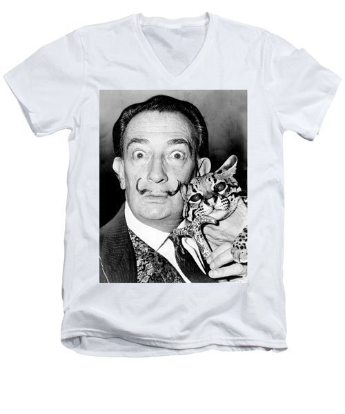 Salvador Dali Men's V-Neck T-Shirt