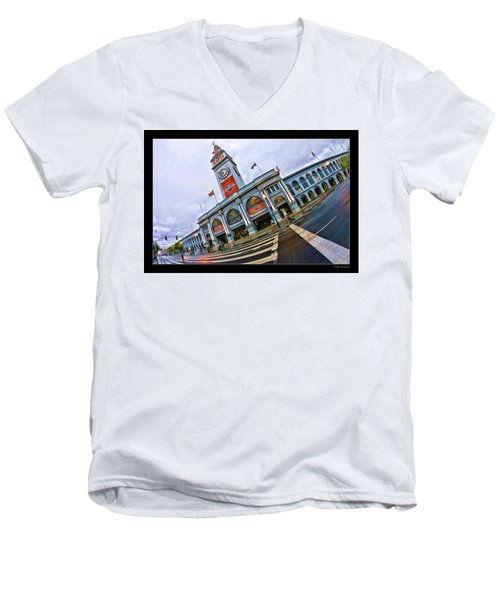 San Francisco Ferry Building Giants Decorations. Men's V-Neck T-Shirt