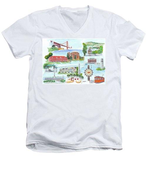 San Francisco Highlights Montage Men's V-Neck T-Shirt