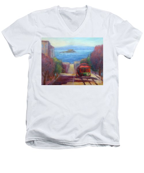 San Francisco Hills Men's V-Neck T-Shirt