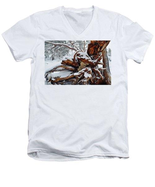 Men's V-Neck T-Shirt featuring the photograph San Jacinto Fallen Tree by Kyle Hanson