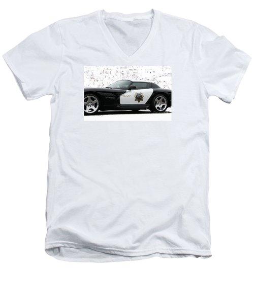 San Luis Obispo County Sheriff Viper Patrol Car Men's V-Neck T-Shirt