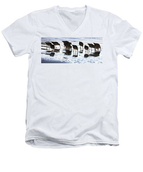 Sand Pipers Reflected Men's V-Neck T-Shirt