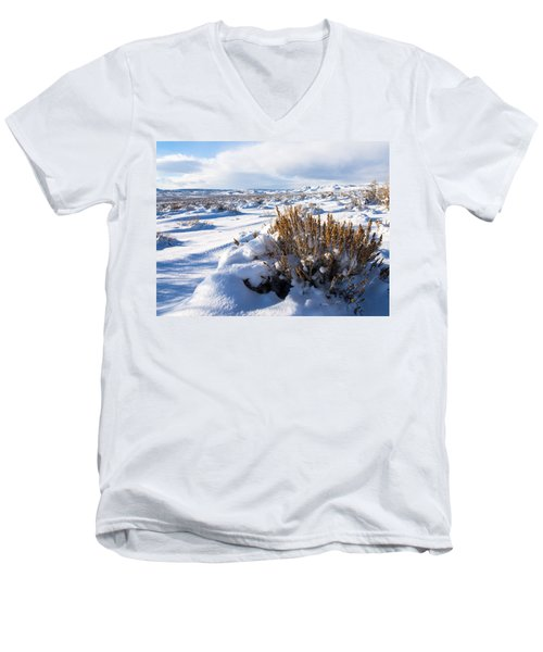 Sand Wash Basin In The Winter Men's V-Neck T-Shirt by Nadja Rider