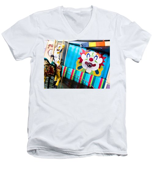 Santa Cruz Boardwalk Carousel Men's V-Neck T-Shirt