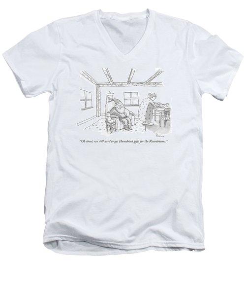 Santa To Wife Men's V-Neck T-Shirt