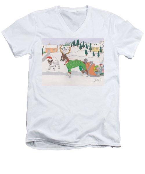 Santas Helpers Men's V-Neck T-Shirt